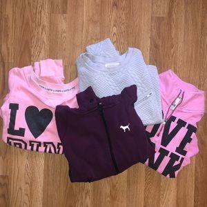 VS PINK & Forever 21 Sweatshirt Bundle x4